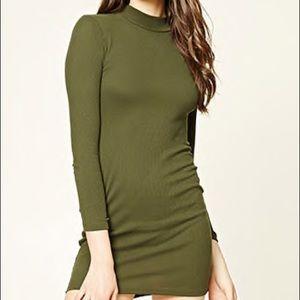 Mock Neck Body Con Dress